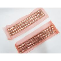 Rhinestone Soft Mesh Motif- Peach Pink- 2 for $5