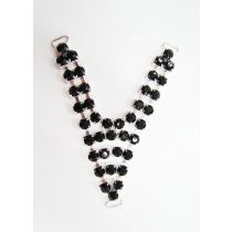 Diamante Rhinestone Trim Insert- Black