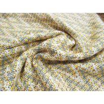Metallic Diamond Chevron Tweed - Parisian Gold
