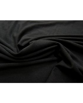 Soft Fall Tencel & Wool Blend Jersey- Black #976