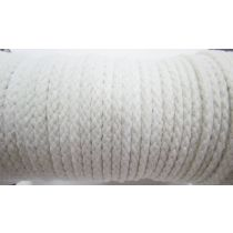 5mm Cotton Drawstring Cord- Paper White