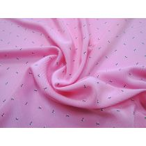 Self Stripe Crepe de Chine- Candy Fruit Pink