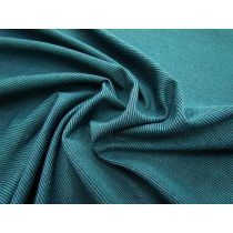 Fine Stripe Cotton Blend Jersey- Teal/Navy