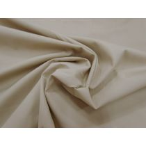 Designer Stretch Cotton Poplin- Sand Beige
