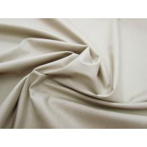 Designer Stretch Cotton Poplin- Light Sage Beige