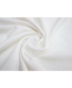 Stretch Terry Fleecy- White #1025