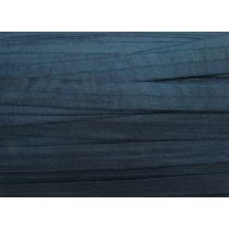 19mm Shiny Fold Over Elastic- Navy Blue #003
