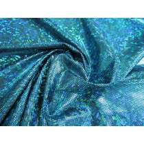Dark Shattered Glass Spandex- Aqua on Black