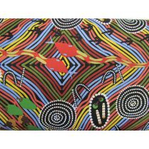 Rainbow Snake Cotton- Black