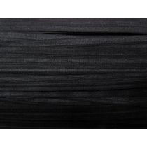 17mm Shiny Fold Over Elastic- Black #005