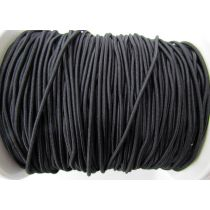 2mm Bungee Cord Elastic- Black #007
