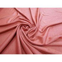 Soft Drape Mini Rib Jersey- Pink Clay #1062