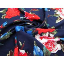 Rose Impressions Rayon- Navy