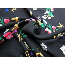 Exotic Flower Cuttings Rayon- Black