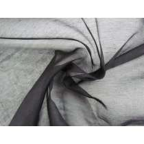 Silk Cotton Blend Organza- Black #1083