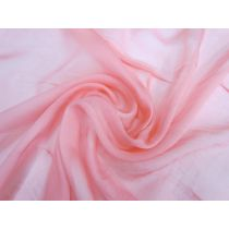 Fine Silk Chiffon- Cupid Pink
