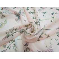 Bamboo Floral Silk Chiffon