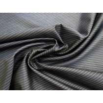Pinstripe Silk Organza