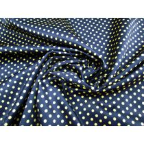 Smooth Spot Satin- Yellow on Navy