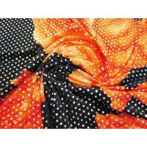 Biggest Blooms Holographic Sequin Spandex- Orange
