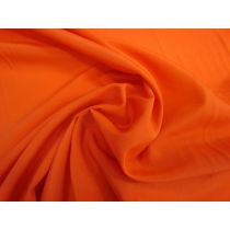Lightweight Crepe de Chine- Electric Orange