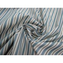 Seaside Stripe Embroidered Cotton