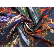 Dragon Scales Satin Chiffon