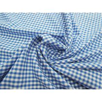 4mm Gingham Cotton Blend- Blue