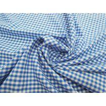 4mm Gingham Cotton Blend- Blue