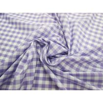 8mm Gingham Cotton Blend- Purple