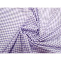 4mm Gingham Cotton Blend- Purple