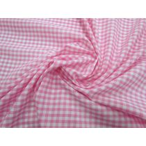 4mm Gingham Cotton Blend- Pink