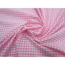 4mm Gingham Cotton Blend- Pink