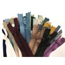 Lucky Dip 40 Pack of Dress Zippers- 12-20cm