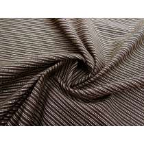 Double Stitched Lines Linen Cotton- Mocha #1156