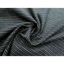 Double Stitched Lines Linen Cotton- Black #1157