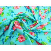 Hibiscus Haze Spandex- Blue #1273