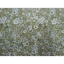 Liberty Cotton- Emily Silhouette Green- English Garden Collection
