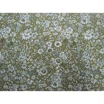 Liberty Cotton- Emily Silhouette Green- English Garden Collection