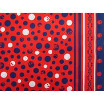 Scull & Bones Heavyweight Cotton- Red/Navy