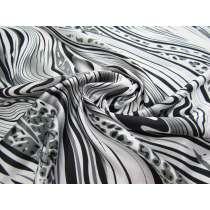 Animalistic Satin- Silver #1374