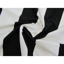 10cm Wide Striped Ponte- Black/White #1409