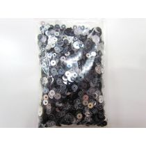 Sequin & Bead Pack- Silver, Clear & Black #005