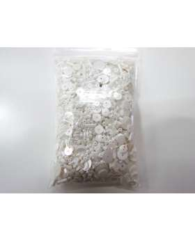 Sequin & Bead Pack- White #006