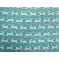 Bunny Hop Cotton- Teal