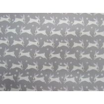 Bunny Hop Cotton- Grey