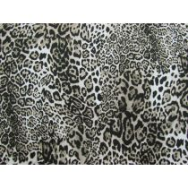 Leopard Look Cotton- Light Beige