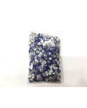 Sequin & Bead Pack- Royal & Silver #022