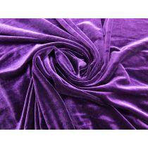 Designer Stretch Velvet- Eggplant Purple #1440