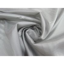 Double Pinstripe Lining- Silver Grey #1443